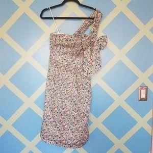 One-shoulder tie dress in Liberty® Claire-Aude flo